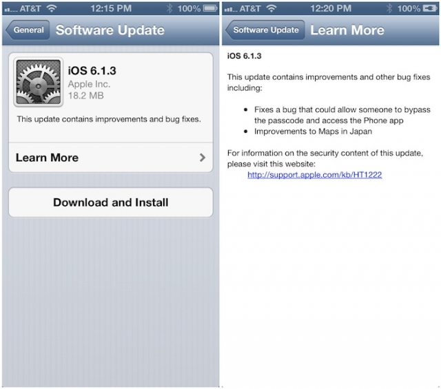 Скачать iOS 6.1.3 для iPhone, iPad и iPod touch