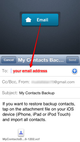 My Contacts Backup как пользоваться - фото 6