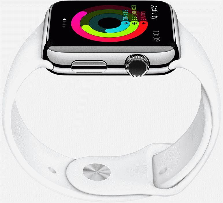 Apple-Watch-steel-case-white-sport-band