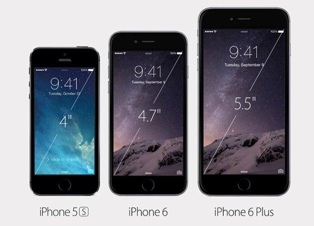 Разрешение дисплея iPhone 6, iPhone 6 Plus
