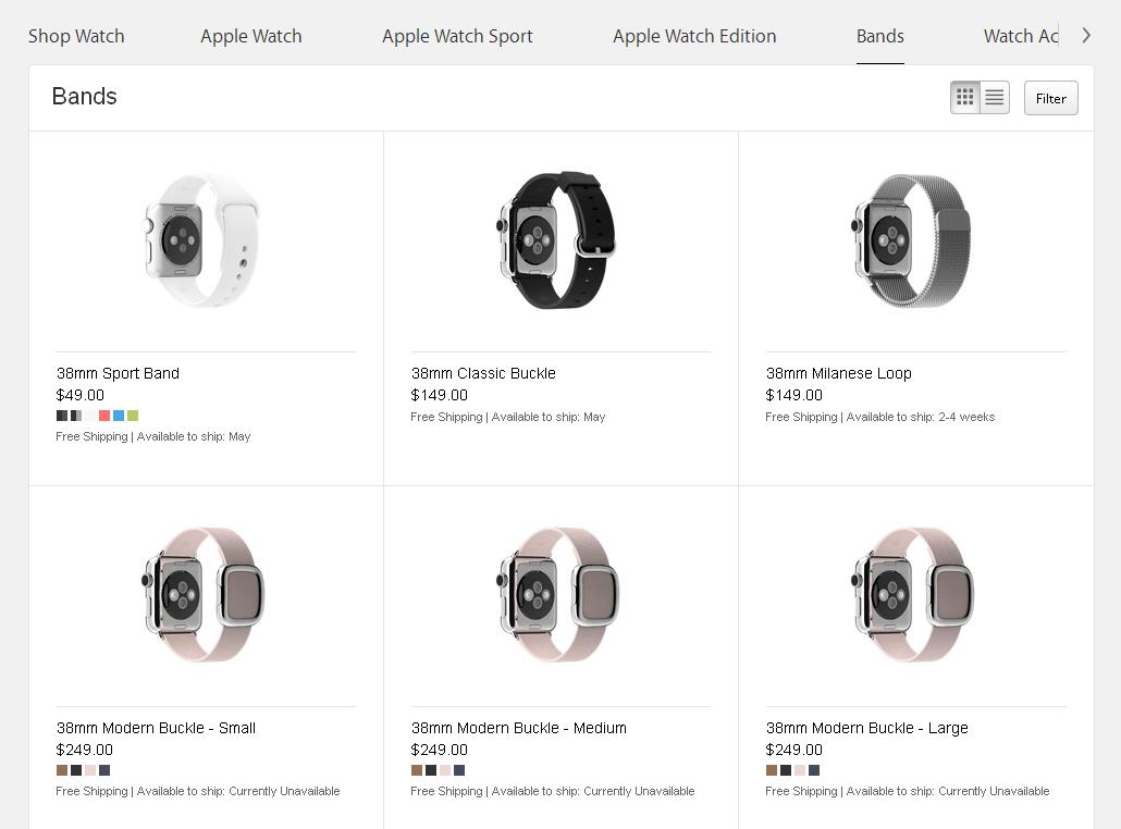 Ремешки от Apple Watch