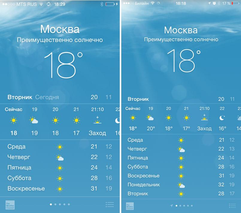 Приложение Погода