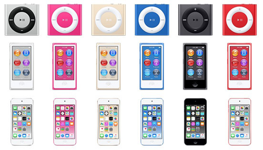iPod Touch, iPod Nano и iPod Shuffle