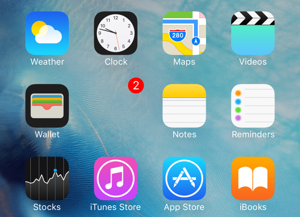 Скратя папка на iPhone