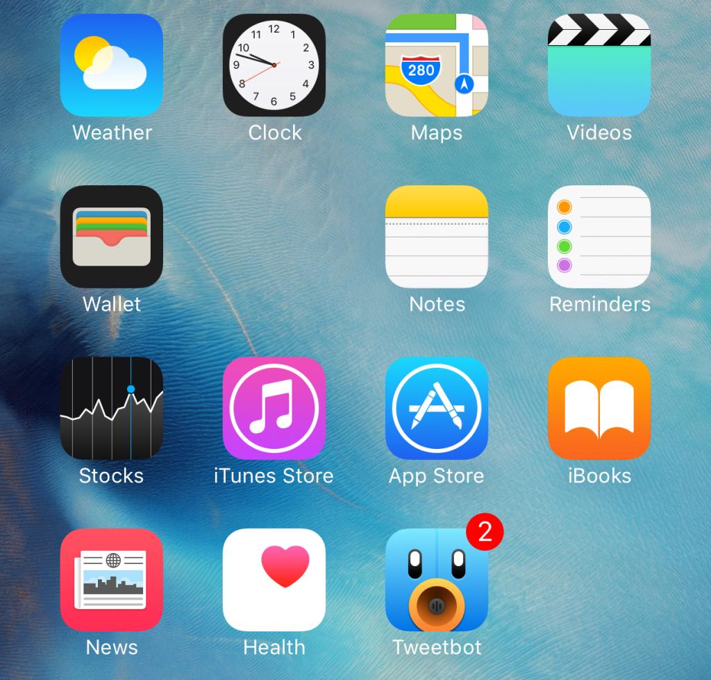 Скрыть папку на iPhone