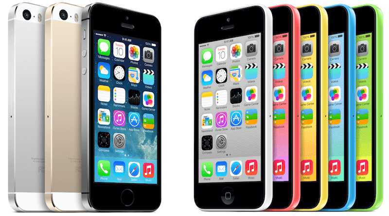 iPhone 5c и iPhone 5s