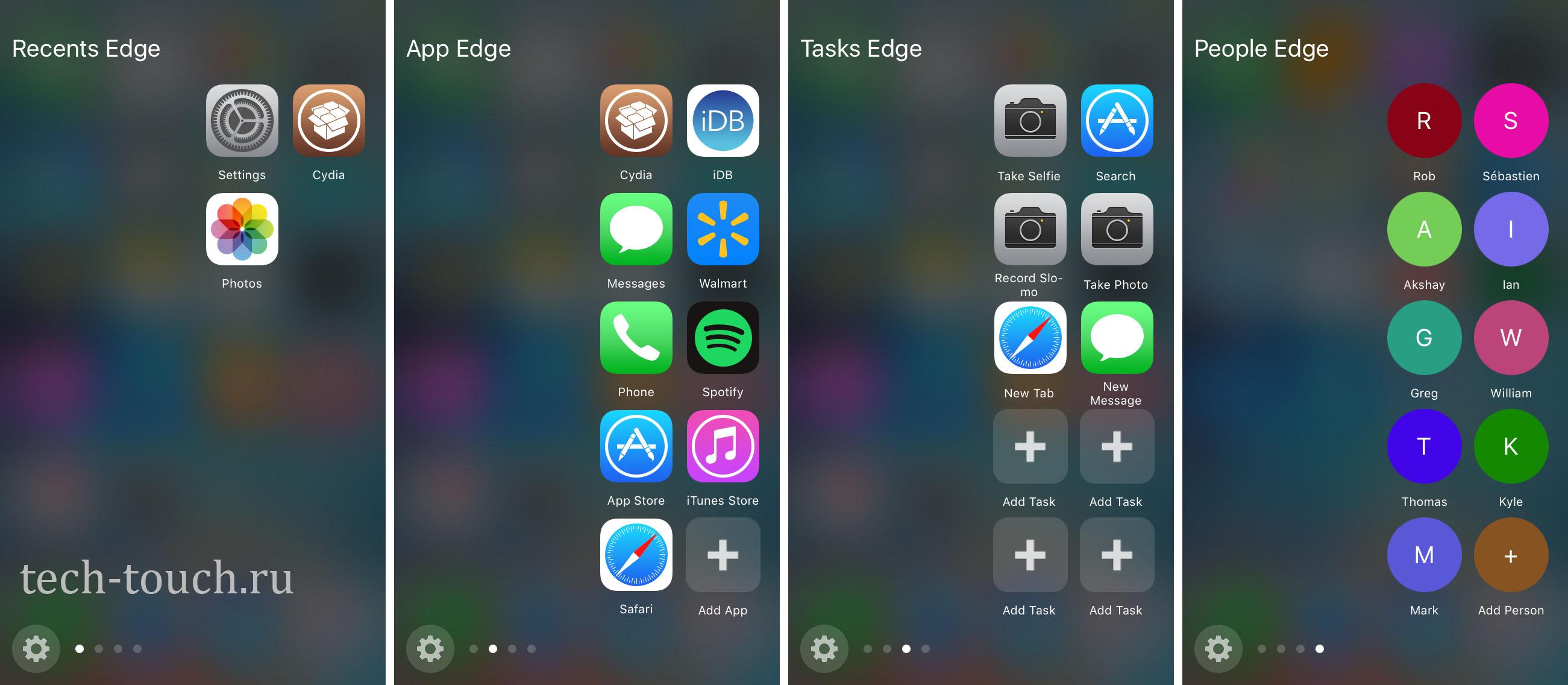 Боковая панель на iOS