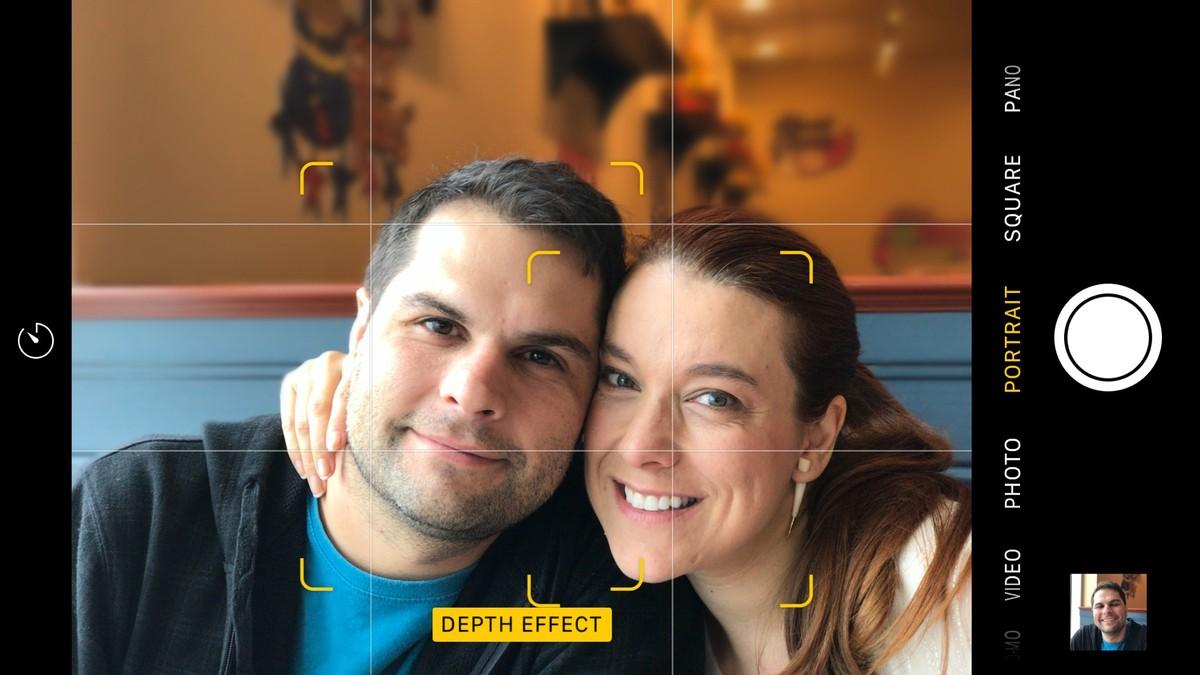 Режим портрета iPhone 7 Plus