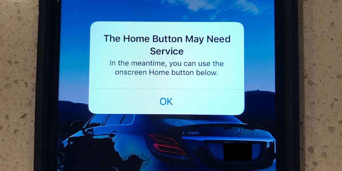 Не работает кнопка Home