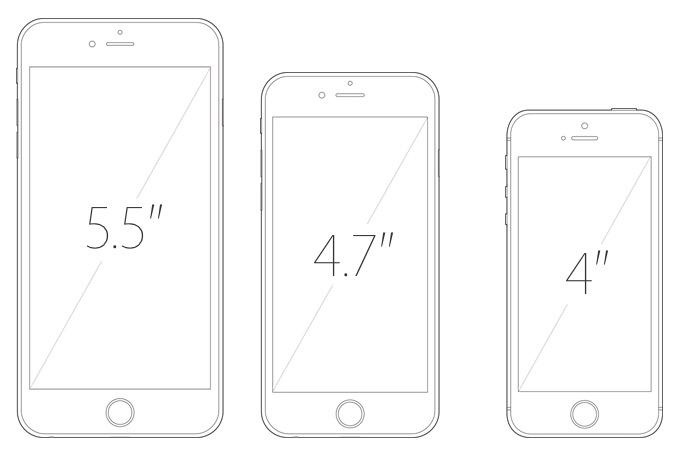 3 макета iPhone