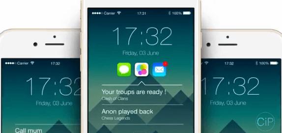 Экран блокировки на iOS 9