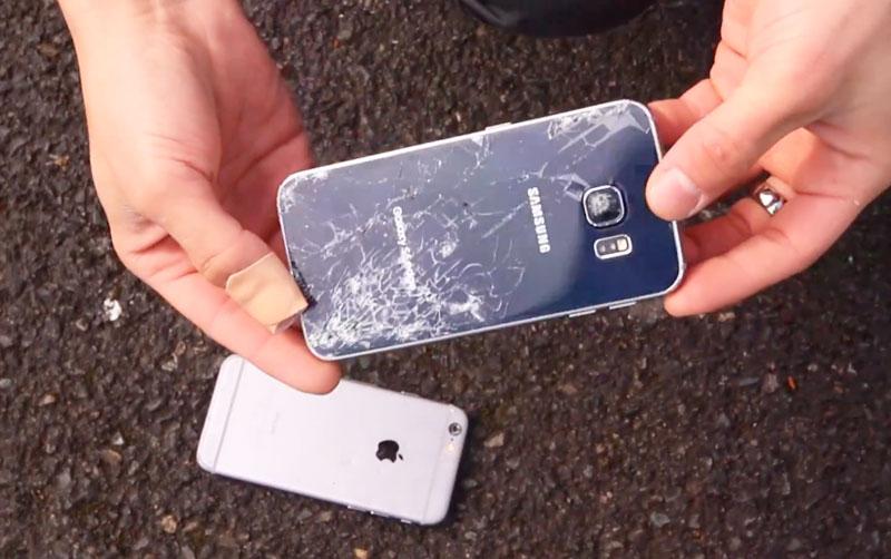 разбитый Samsung Galaxy S6 edge