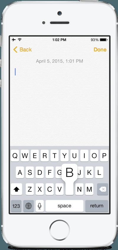 клавиатура на iPhone