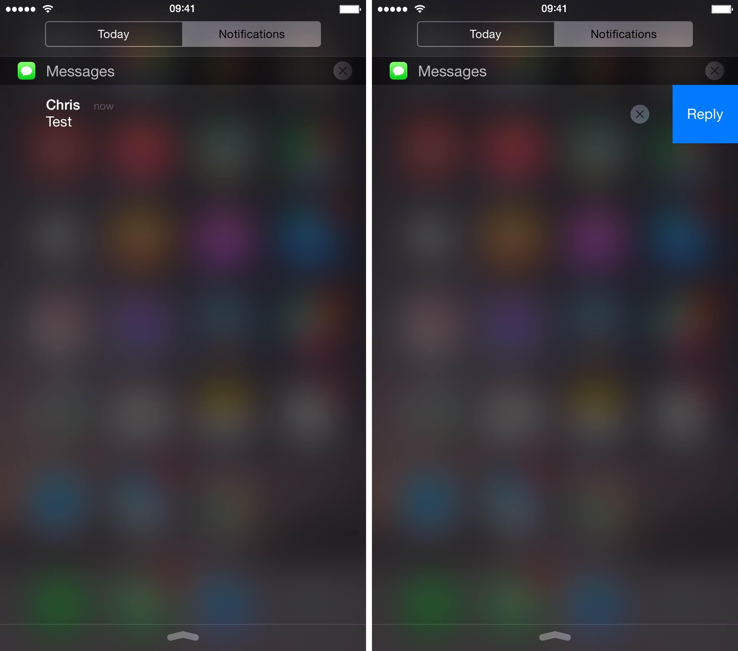 Центр уведомлений на iOS 8.3