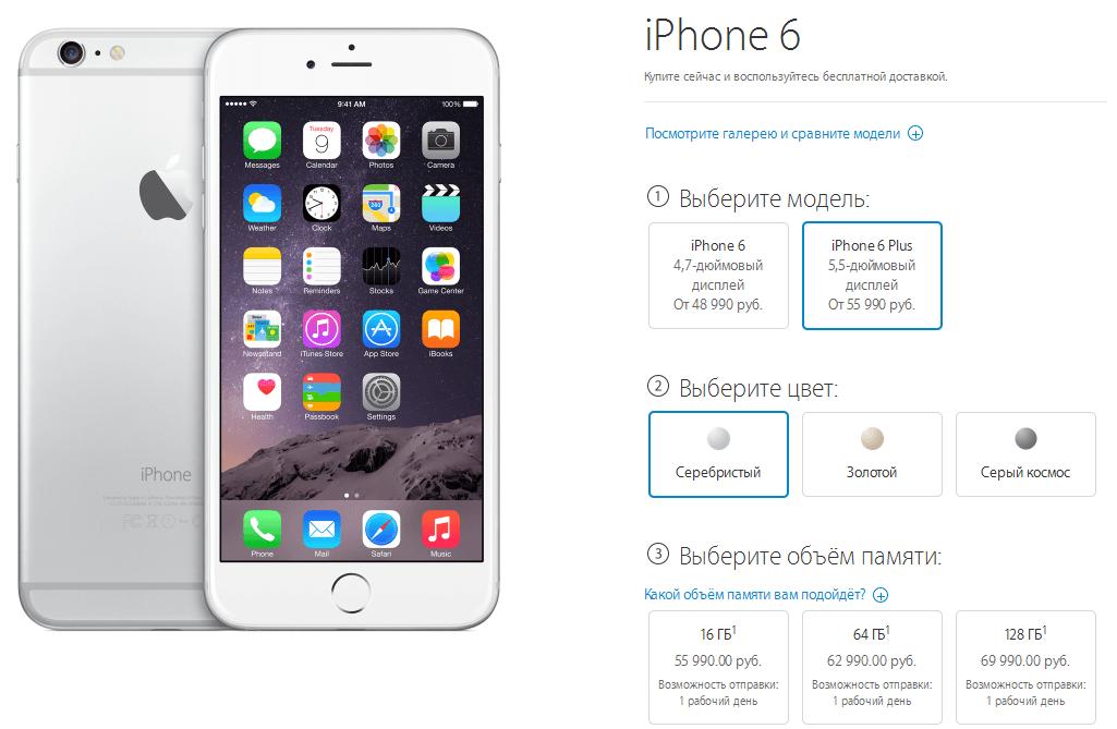 Цена iPhone 6 Plus