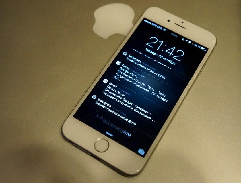 Уведомления на iPhone 6