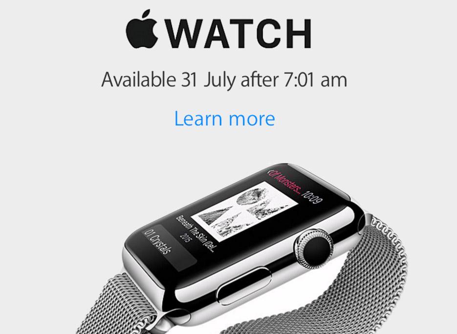 Старт продаж Apple Watch 31 июля