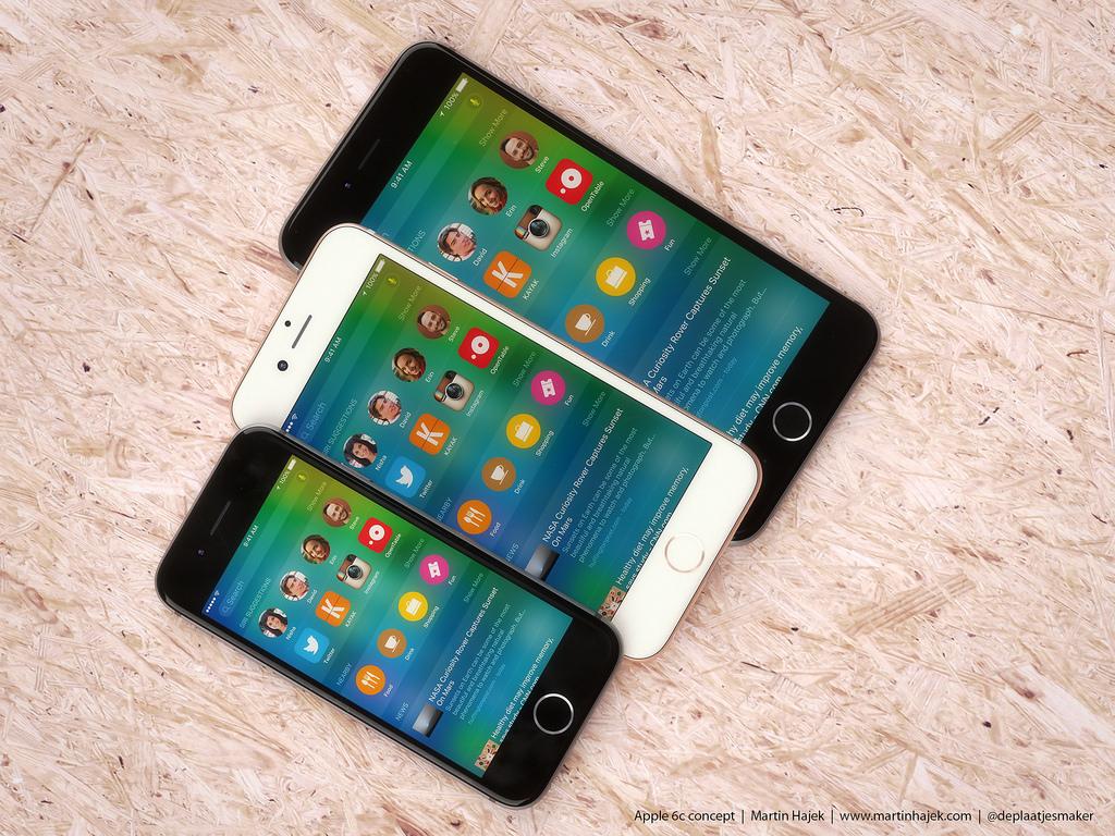 iPhone 6s и iPhone 6c