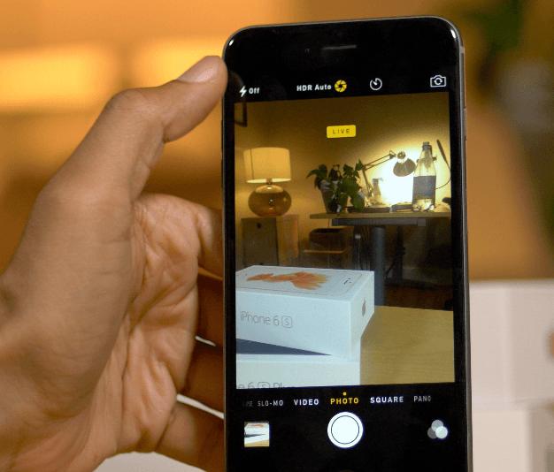 Как делать живые фото на айфон 5s