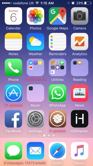 Рабочий стол на iPhone