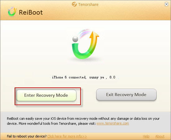 how to exit recovery mode iphone 6