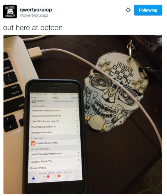 Джейлбрейк iOS 9.3.4