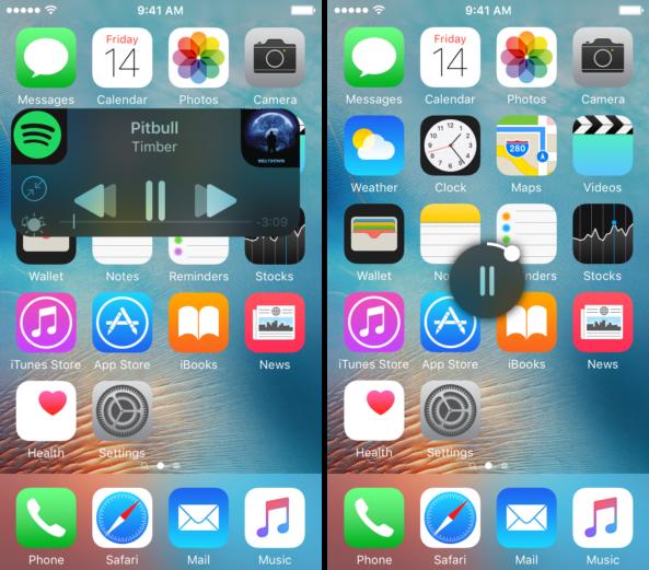 Плеер iOS 9