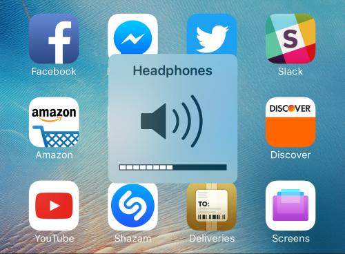 Громкость на iOS 9