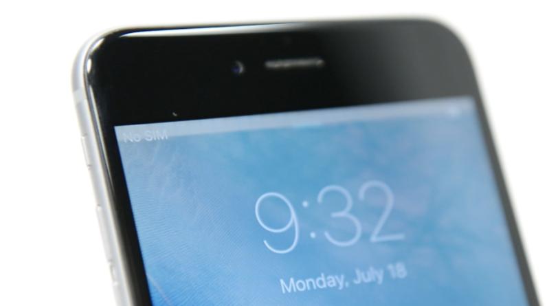 Мерцающая серая полоса на дисплее iPhone 6 Plus