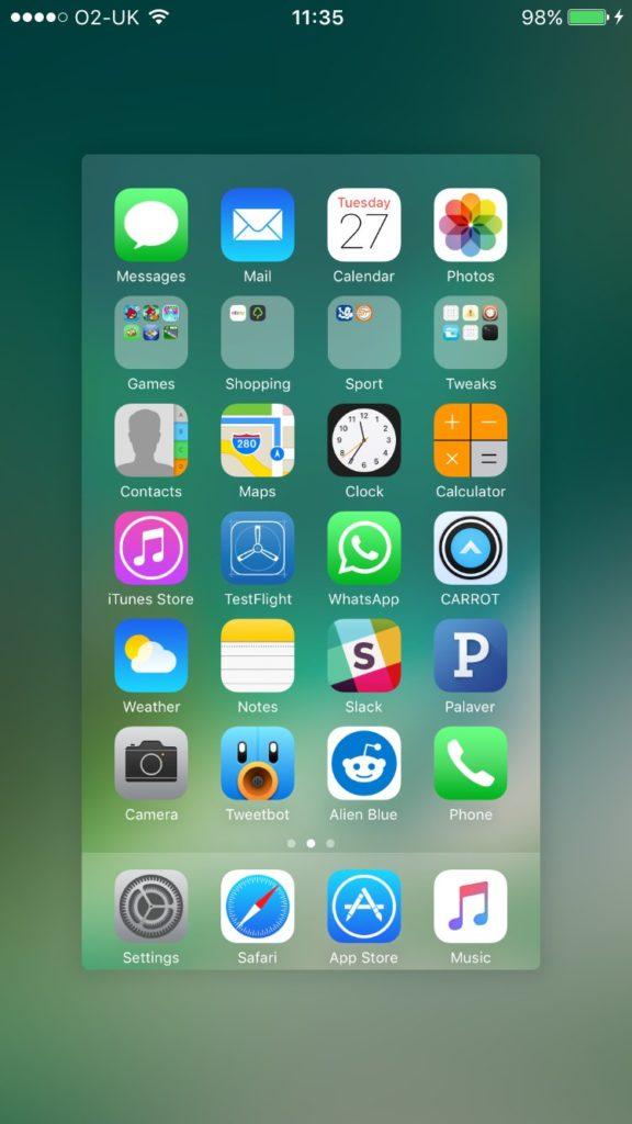 Как добавить строку состояния в режиме многозадачности на iOS 10?