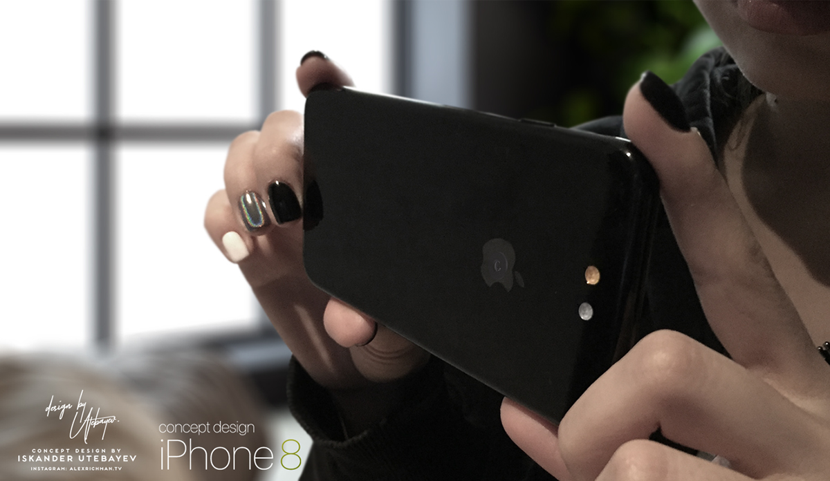iPhone 8 с камерой, встроенной в логотип Apple: видео