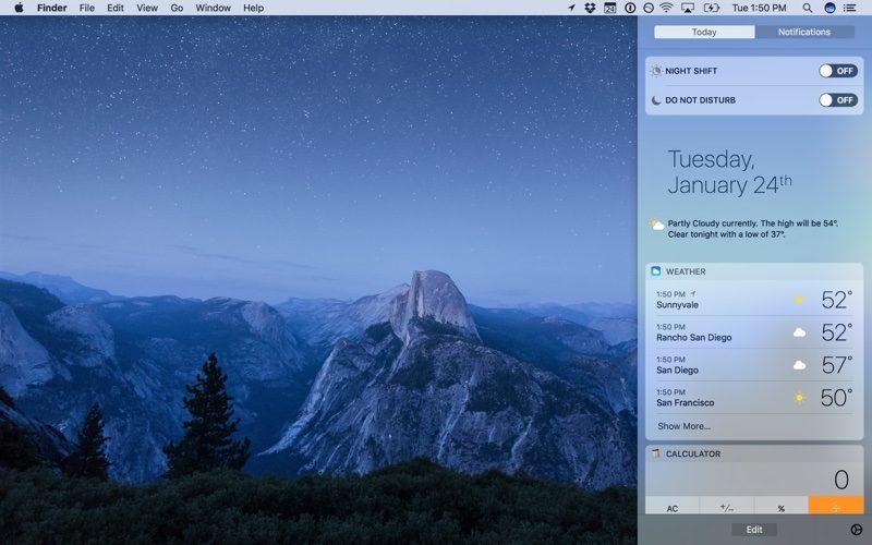 Как работает ночной режим Night Shift в MacOS Sierra 10.12.4