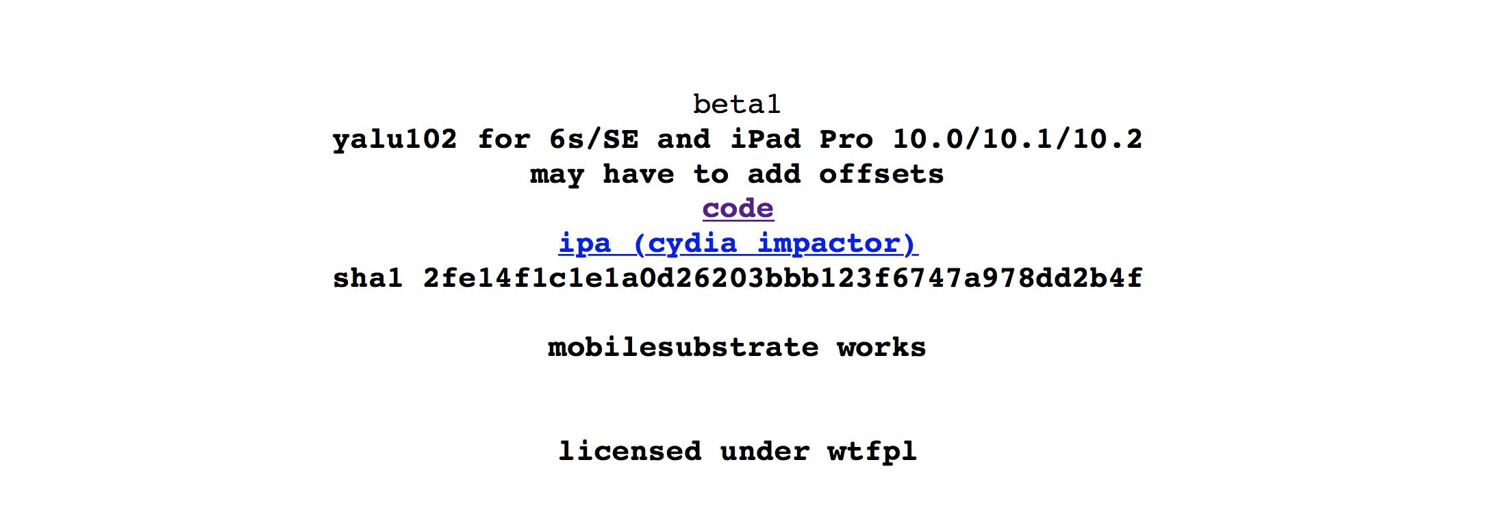 Вышла новая версия Yalu с поддержкой джейлбрейка iOS 10.2